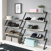 簡易多層門廳鞋架現代家用經濟型鐵藝收納架鞋柜組裝防塵門口鞋架