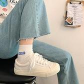 帆布鞋 春季新款韓版ulzzang板鞋ins潮百搭休閒街拍帆布鞋學生小白鞋 格蘭小舖
