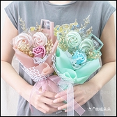 玫瑰馬林糖乾燥花束CO004(2色可挑) 情人節花束 告白花束 生日花束 教師節禮物 玫瑰花束