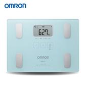 OMRON 歐姆龍體脂計 HBF-216(淺藍色)-(贈皮脂夾+BMI皮尺)HBF-212進階版