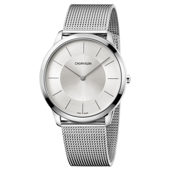 CALVIN KLEIN minimal系列K3M2T126不袗白面手錶-43mm