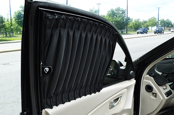 carlife美背式汽車窗簾(休旅車/小箱型車用)--奈米抑菌【4窗 側後+側尾】北中南皆可安裝須安裝費