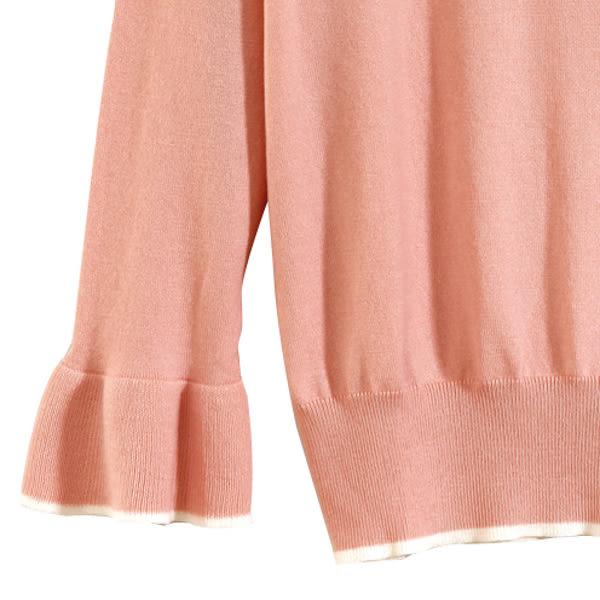 【MASTINA】造型袖口針織上衣-粉 0530