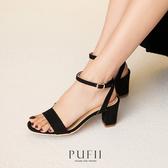PUFII-鞋子 麂皮繞踝高跟涼鞋-0225 現+預 春【CP18048】