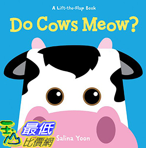 [106美國直購] 2017美國暢銷兒童書 Do Cows Meow? (A Lift-the-Flap Book) Board book