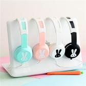 電腦耳機卡通動漫可愛兒童女生粉色手機電腦耳機頭戴式有線免運直出 交換禮物