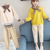 兒童套裝網紅女童秋裝套裝2020  兒童大 洋氣時髦 女孩衣服兩件套歐歐