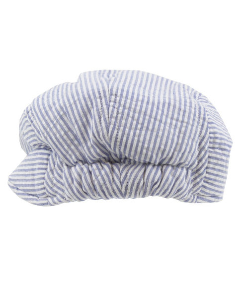 【美國 RuffleButts】男童帽/鴨舌帽 -夏日天空條紋款  BHWSSXX-DCBL