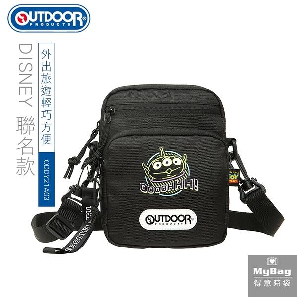 OUTDOOR x DISNEY 側背包 玩具總動員聯名款 TOYS 霓虹 三眼怪 小包 斜背包 ODDY21A03 得意時袋