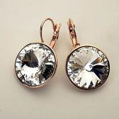 耳環 925純銀水晶-簡約百搭生日情人節禮物女耳針2色73gt160【時尚巴黎】