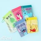迪士尼矽膠果凍票夾- Norns 正版授權 票卡夾 識別證 證件套 小熊維尼 史迪奇 毛怪 玩具總動員