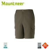 【Mountneer 山林 男 彈性抗UV休閒短褲《深棕灰》】31S19/抗UV/排汗短褲/登山/戶外/機能褲/吸濕排汗