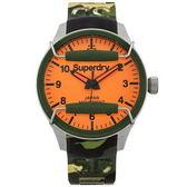 ~台南時代鐘錶Superdry 極度乾燥~美式和風文化衝擊潮流腕錶SYG129N 矽膠帶亮