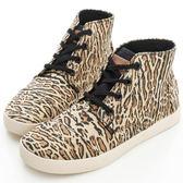 【TOMS】 WHEAT OCELOT 黃豹紋中筒系帶鞋(現貨)