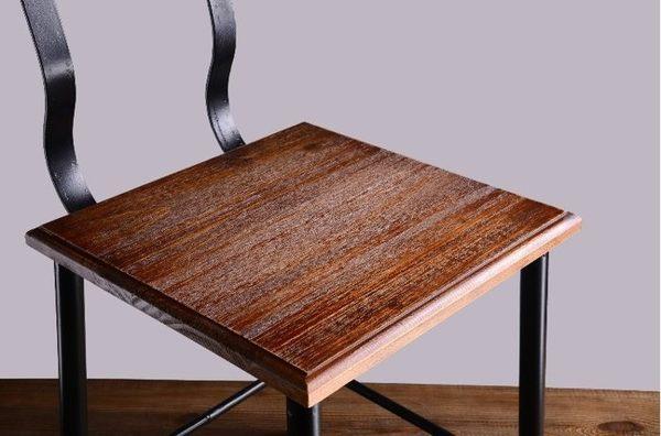 【南洋風休閒傢俱】造型椅系列-美式鄉村復古椅 鐵藝餐廳靠背椅 創意椅 實木餐椅 造型餐椅