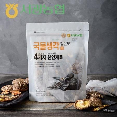 韓國 江原道 鯷魚海鮮高湯包-濃郁 (6入) 120g 海鮮高湯包 高湯 高湯包 湯底 高湯湯底 調味包 料理包