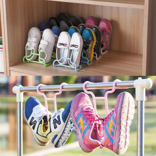 多功能可立可掛兩用式兒童鞋架 2入組 童鞋 鞋掛 空間收納 鞋櫃