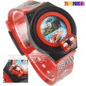 SKMEI時刻美 汽車模型 賽車造型兒童電子手錶 男孩女孩 印花玩具錶 可旋轉汽車 SK1376紅
