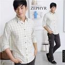 【大盤大】男 ZEPHYR 長袖襯衫 shirt 經典格紋 格子 S號 紳士 休閒衫 都會 百貨專櫃 禮物