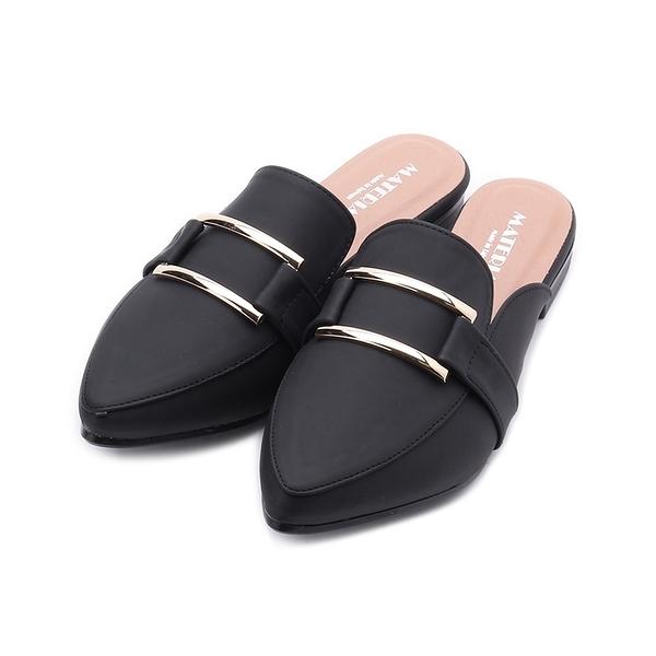 MATERIAL 方框穆勒鞋 黑 JIO0446 女鞋