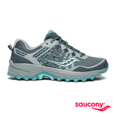 SAUCONY EXCURSION TR12 戶外越野女鞋-灰x藍綠