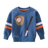 棒球手套加絨長袖上衣 童裝 加絨上衣 長袖上衣