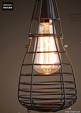 INPHIC- 工業風格復古吊燈美式創意咖啡館酒吧吧台鍋蓋鳥籠單頭吊燈-I款_S197C