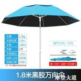 古山釣魚傘大釣傘2.4米萬向加厚防曬防雨三折疊雨傘戶外遮陽漁具QM『摩登大道』