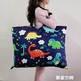 幼兒園被子包被褥袋棉布卡通印花帆布整理收納包手提包可水洗 創意新品