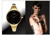 瑞士TRUeE 瑞時寶嘉 PHAS1281-2  高雅亮金手環腕錶 (金)/34mm
