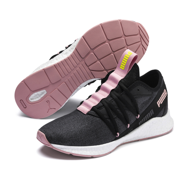 Puma NRGY 女 黑粉 慢跑鞋 運動鞋 訓練 跑步 健身 休閒鞋 針織鞋面 舒適 緩衝 19276005