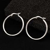 耳環 925純銀-簡潔經典生日情人節禮物女耳針73gt129【時尚巴黎】
