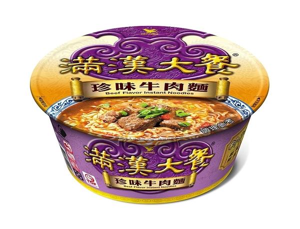 統一 滿漢大餐 珍味牛肉麵 187g/碗【康鄰超市】