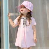 85折女嬰小裙子寶寶夏裝公主連身裙學院風背心裙99購物節