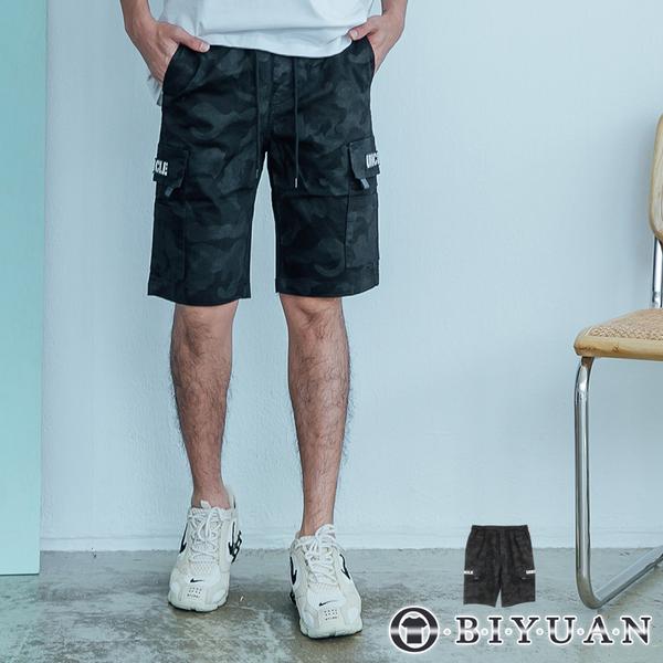 多口袋【OBIYUAN】工裝短褲 迷彩 戰術 休閒短褲 共1色【P6607】