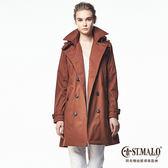 【ST.MALO】歐美經典高機能蓄暖風衣-1665WC-紅棕色