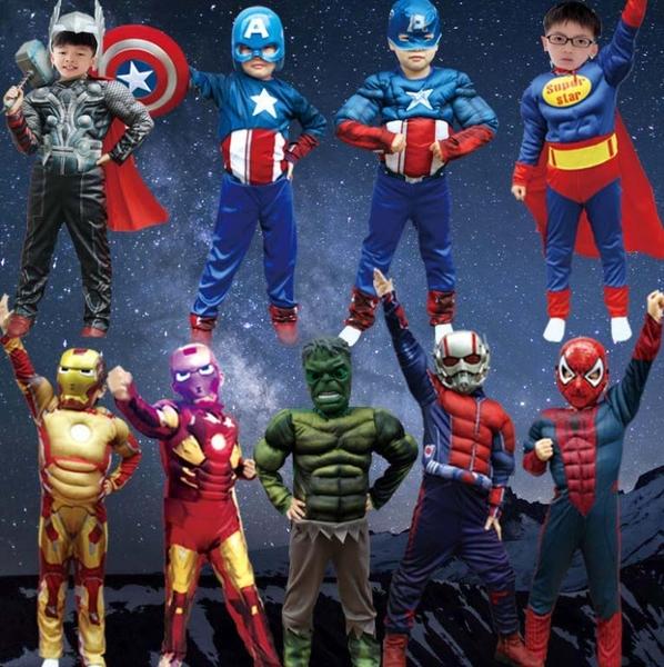 衣童趣(•‿•)萬聖節暗黑系 肌肉雷神 索爾造型表演服裝派對 英雄系列表演 角色扮演服裝 贈面罩