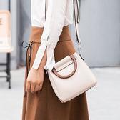 手提包-純色時尚簡約優雅子母包女肩背包4色73sb22[巴黎精品]
