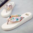 拖鞋女夏時尚外穿新款百搭沙灘鞋厚底外出涼...
