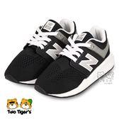 New Balance 247 mini me 黑色 套入式 運動鞋 中童鞋 NO.R3334