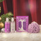 【聖誕限定】Q'her植感 聖誕奇幻森林 紫色森林聖誕洗沐禮盒(洗髮精250ml x1+沐浴乳250ml x1+沐浴球)