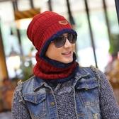針織毛帽 加絨圍脖兩件組-加厚護耳毛線保暖男女配件8色73pp485【時尚巴黎】