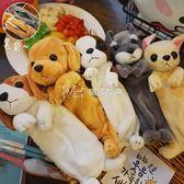 文具盒  韓國卡通動物毛絨小狗狗大容量學生筆袋鉛筆文具盒  瑪奇哈朵