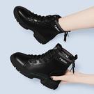 馬丁靴女英倫風顯瘦小短靴高幫鞋2020秋冬棉靴ins《微愛》