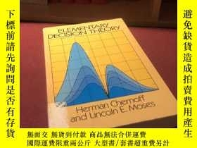 二手書博民逛書店英文原版《Elementary罕見Decision Theory