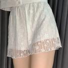 jk打底褲白色安全褲女防走光洛麗塔lolita寬鬆蓬蓬蕾絲可外穿短褲 快速出貨