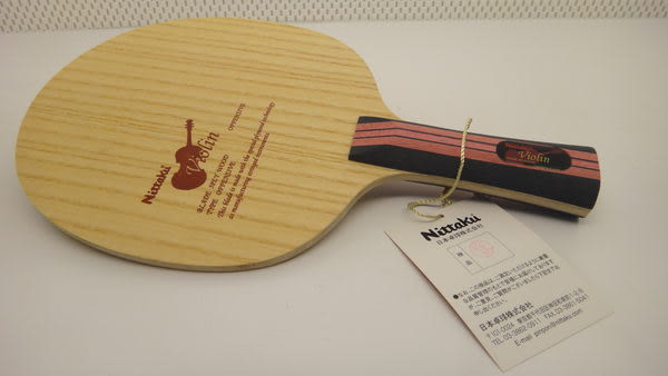 Nittaku VIOLIN 小提琴 手工拍 日本製 桌球拍