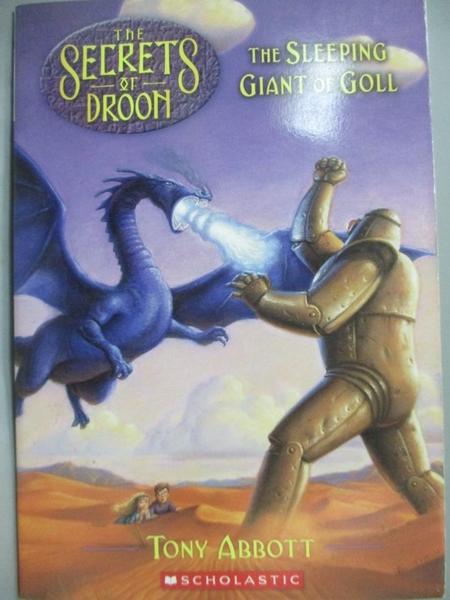 【書寶二手書T8/原文小說_LBH】The Secret of Droon-The Sleep Giant of Gol