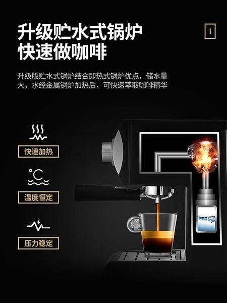 咖啡機 Donlim/東菱 DL-KF6001咖啡機家用小型意式半全自動蒸汽式打奶泡 優拓