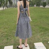 吊帶裙阿里巴巴批發市場夏裝女連身裙顯瘦韓版露背復古溫柔風吊帶裙女潮 生活主義
